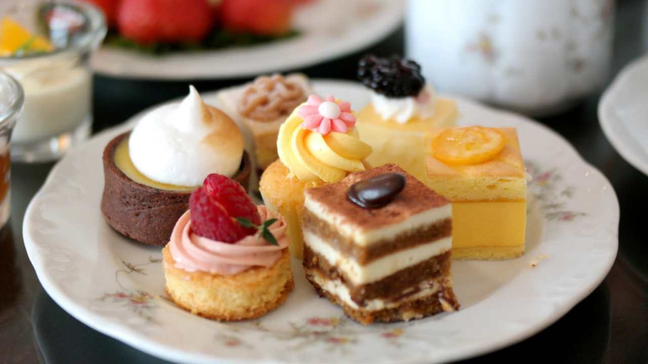 Food Tours, Assortment of cakes - Flaxton Garden High Tea - Coast to Hinterland Tours