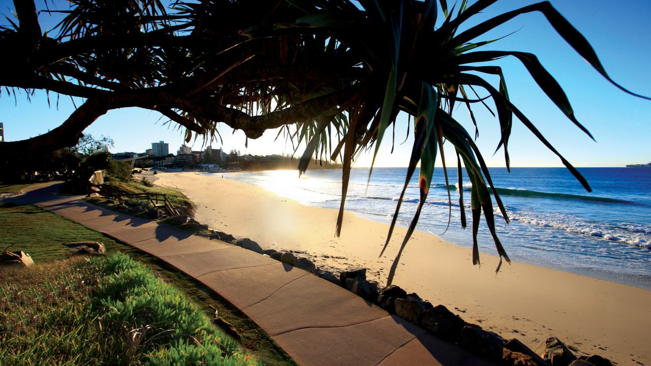 Beaches, Sunset at Kings Beach Caloundra - Coast to Hinterland Tours