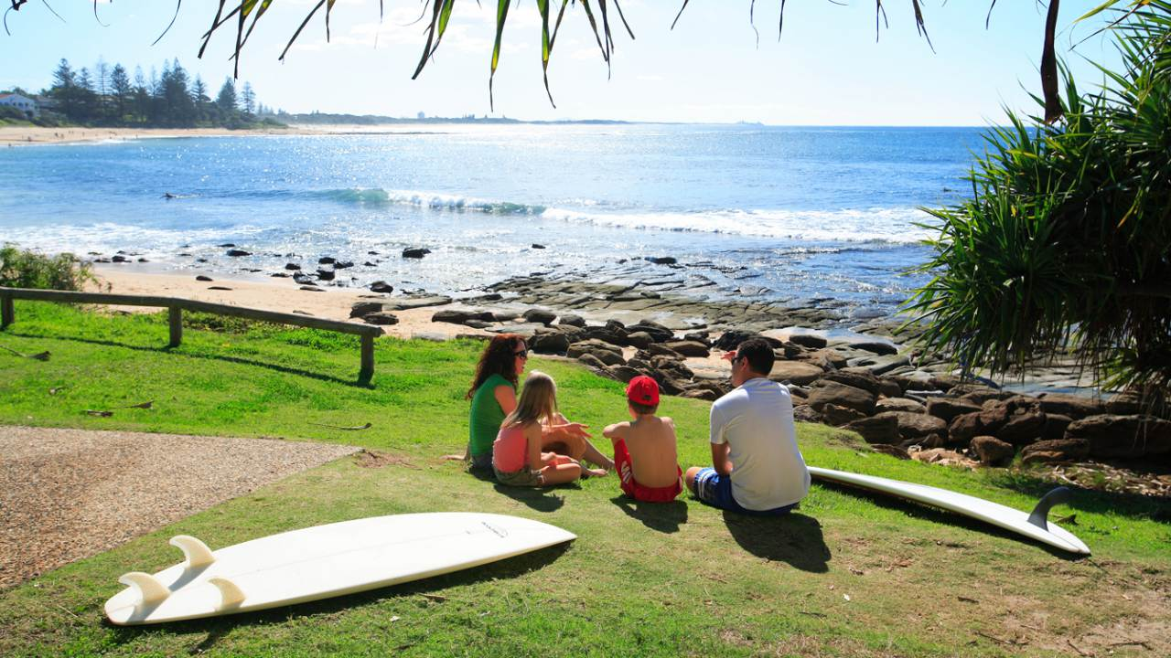 Beaches, Moffat Beach - Coast to Hinterland Tours