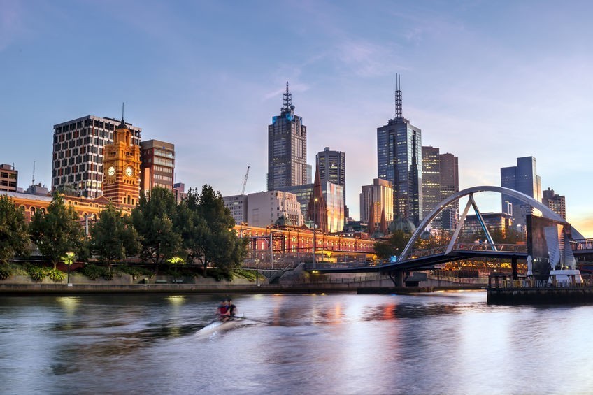 Melbourne, Australia, in early morning light