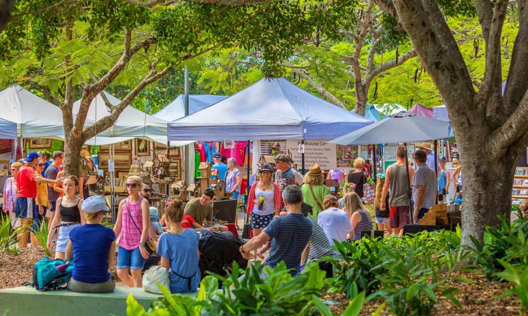 Eumundi Markets Transfers Sunshine Coast. Coast to Hinterland Tours, Australia