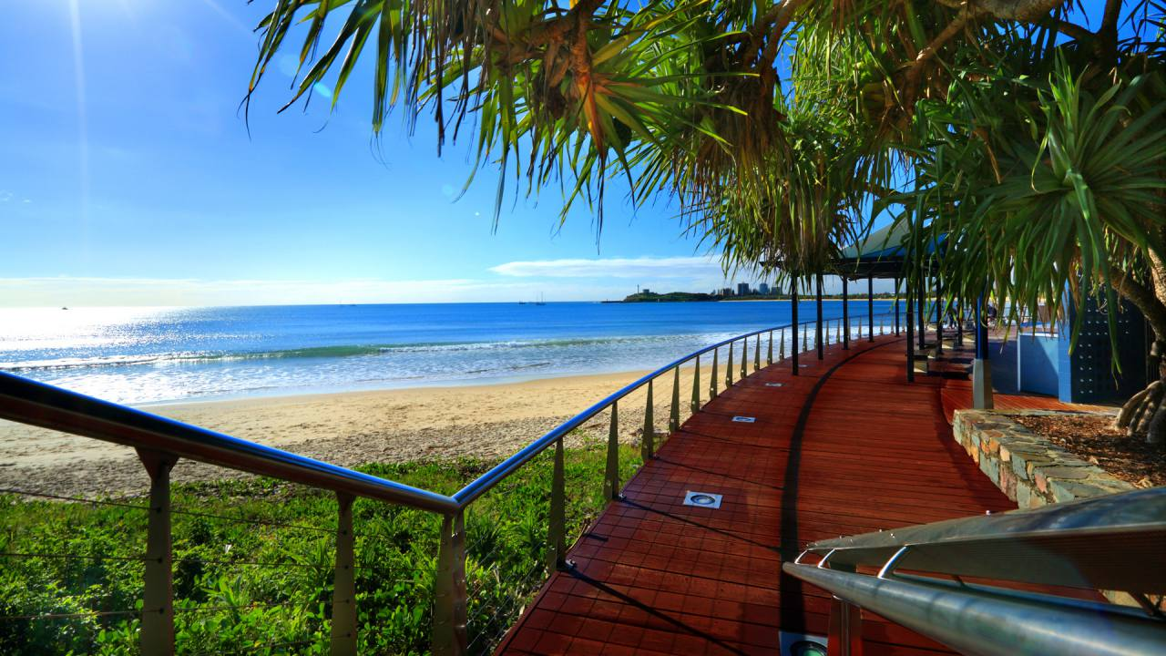 Boardwalk at Mooloolaba Beach - Coast to Hinterland Tours