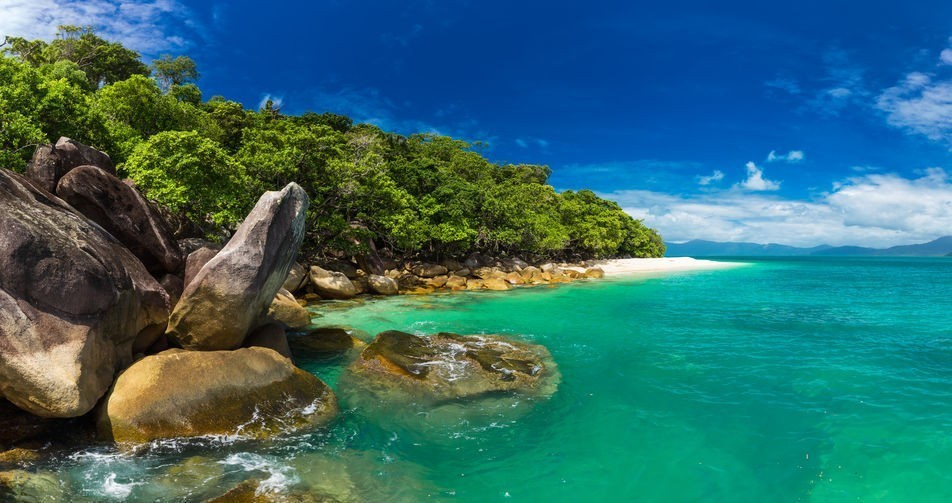 Nudey Beach on Fitzroy Island, Cairns area, Queensland