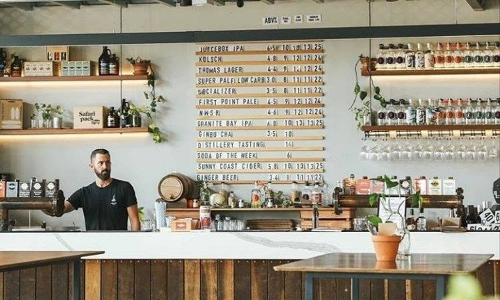 Land & Sea Brewery & Distillery. Craft Beer Tours Sunshine Coast