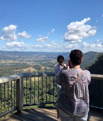 Mapleton Falls Lookout. Sunshine Coast Hinterland