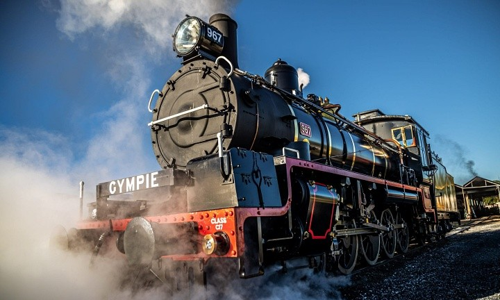 Gympie Rattler Steam Train Day Tour. Coast to Hinterland Tours Day Tour