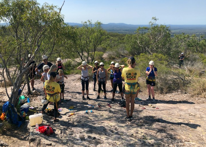 Grabrock abseiling & rock climbing adventure Noosa