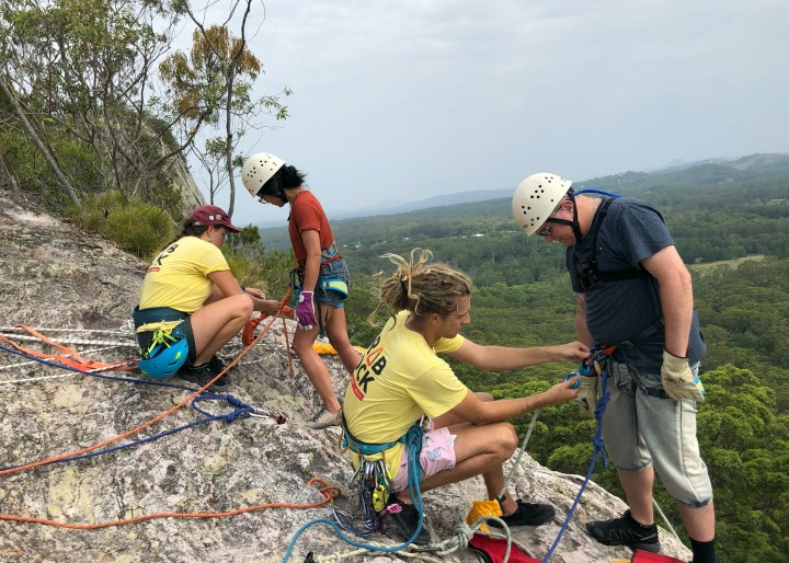 Grabrock abseiling & rock climbing adventure Noosa - Sunshine Coast Adventure Tour - Abseiling, Beer & Speed Boat