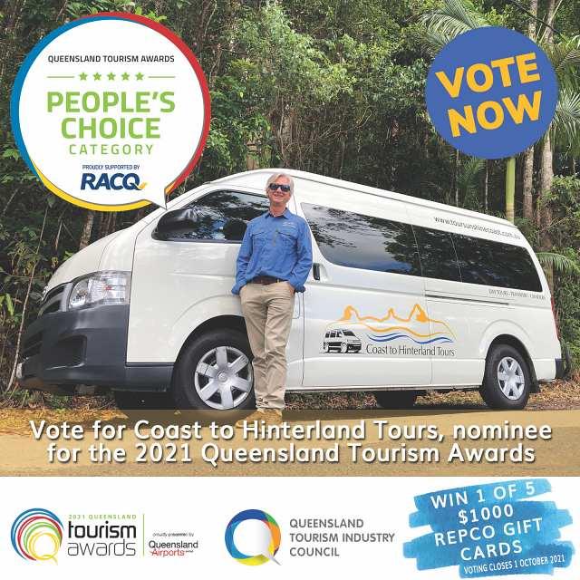 Coast to Hinterland Tours Queensland Tourism Awards
